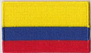 Colombia Embroidered Flag Patch, style 04.